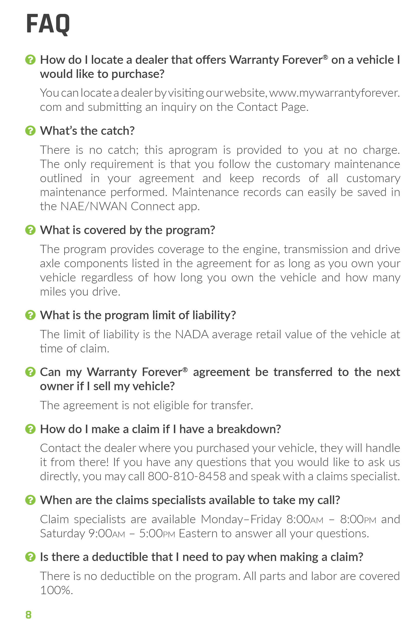Jeep Dealers Cleveland >> Warranty Forever FAQs - Texas City Dealers - Houston ...